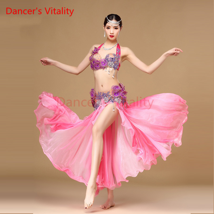 Здесь продается  Women Oriental Dance Costumes Dancewear Performance Egyptian Bellydance Clothes Orange Belly Dance Costume Set Bollywood   Одежда и аксессуары