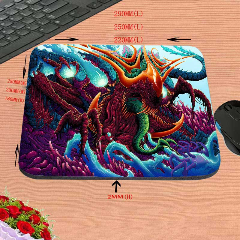 Mairuige NO Locking Edge Rubber Gun Mousepads for Cs Go Counter Strike Mice Mat DIY Design Pattern Computer Gaming Mouse Pad
