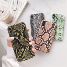 Retro snake skin phone case for iPhone 7plus hard pc cover iphone 7 8 plus new brand iphon xs max xr sexy capa