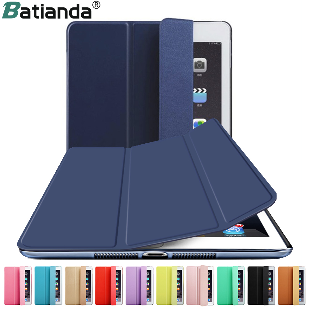 цена на New Color Navy Matte Back Cover Microfiber PU Leather Case For iPad 9.7 INCH 2017 2018 Stand Waking/Sleeping Function