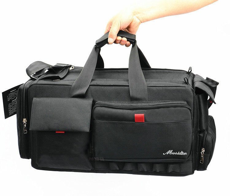 New black Professional VCR Video Camera Bag Shoulder Case for Nikon Canon Sony Large volume Waterproof image