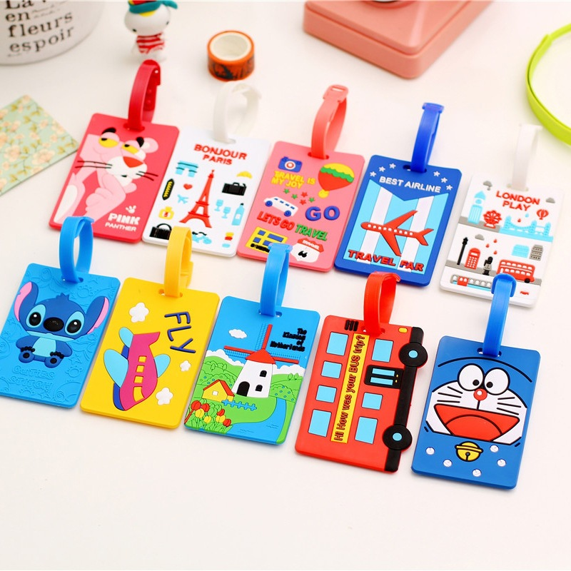 Fashion Cartoon Luggage Tag Korean Style Travel Accessories Luggage Straps For Sale Cheap