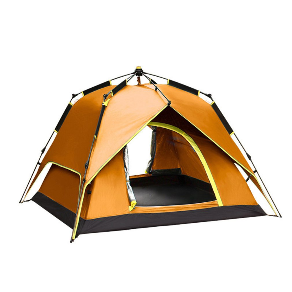 New Arrival 3-4 Person Portable Fully Automatic Rainproof Tent Double Layers Outdoor Camping Hiking Fishing Backpacking Tent outdoor double layer 10 14 persons camping holiday arbor tent sun canopy canopy tent