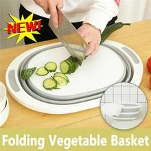 Chopping Cutting Board Folding Drain Basket Multi-Function 2 In 1 Sink  2019 Kitchen