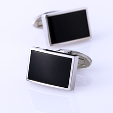 Kflk jóias camisa moda abotoaduras para homens marca manguito link botão preto de alta qualidade luxo casamento noivo convidados