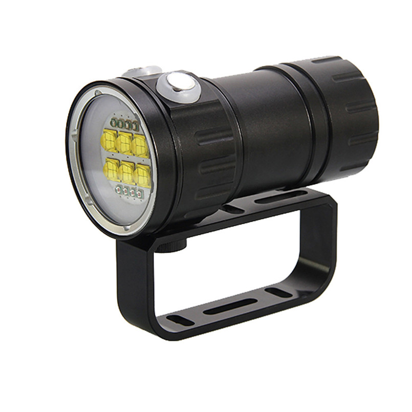 80m LED Diving Flashlight Photography Light Underwater IPX8 Waterproof Torch Lamp Super Bright Flashlight Bicycle Light