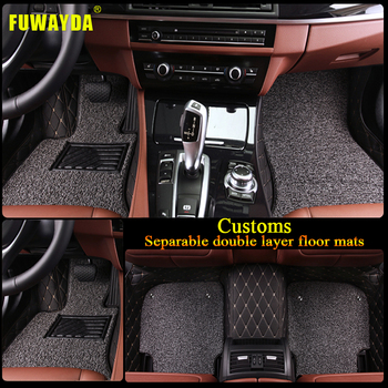Luxury Double layer fabric car floor mats for BMW F10 F11 F15 F16 F20 F25 F30 F34 E60 E70 E90 1 3 4 5 7 GT X1 X3 X4 X5 X6 Z4