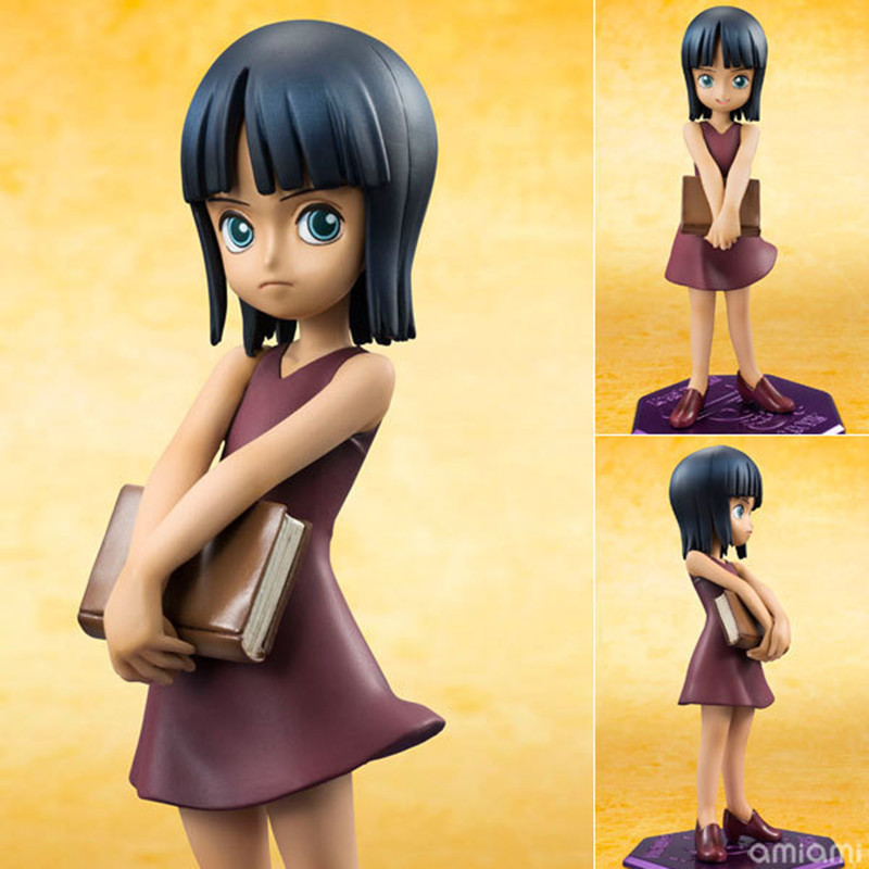 Free shipping one piece Model Nico Robin Doll Ornaments POP Childhood ver Onepiece Action Figure PVC Toy 10CM KB0115