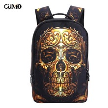 Ou Mo brand skeleton travel outdoor High capacity feminina backpack Youth Boys/Girls child Schoolbag Women Bag man