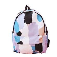 Новый Японский Корейской версии Мило Harajuku Граффити цвет мода Досуга Опрятный стиль женщина путешествия холст школьный Рюкзаки