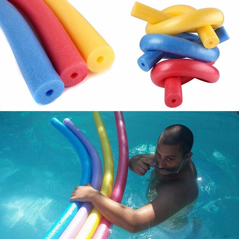 1pc Rehabilitation Learn Pool Noodle Water Float Aid Woggle Swim Flexible LDPE Swimming Kickboard Water Float Aid Woggle Noodles