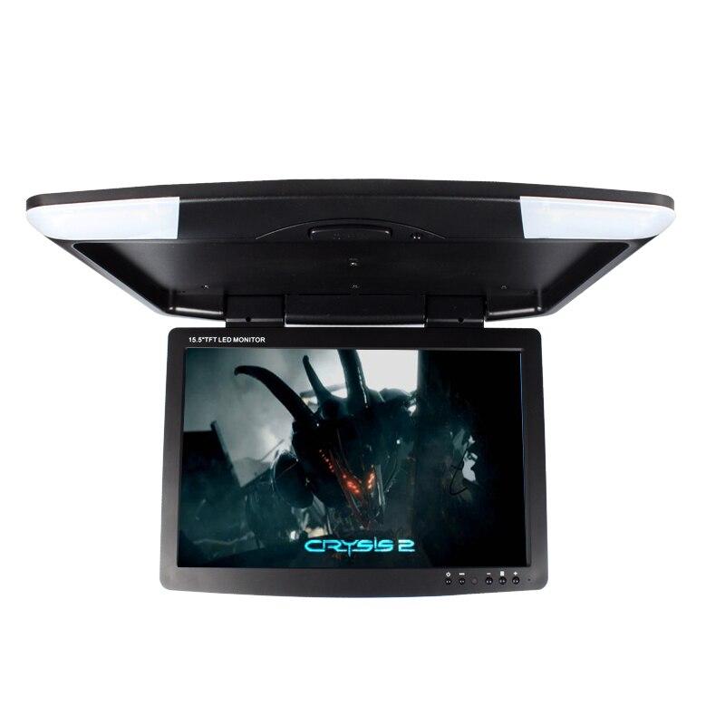 автомобильный монитор 15.5 дюймовый с высоким разрешением TFT ЖК-потолочный монитор постоянного тока 12В откидной монитор