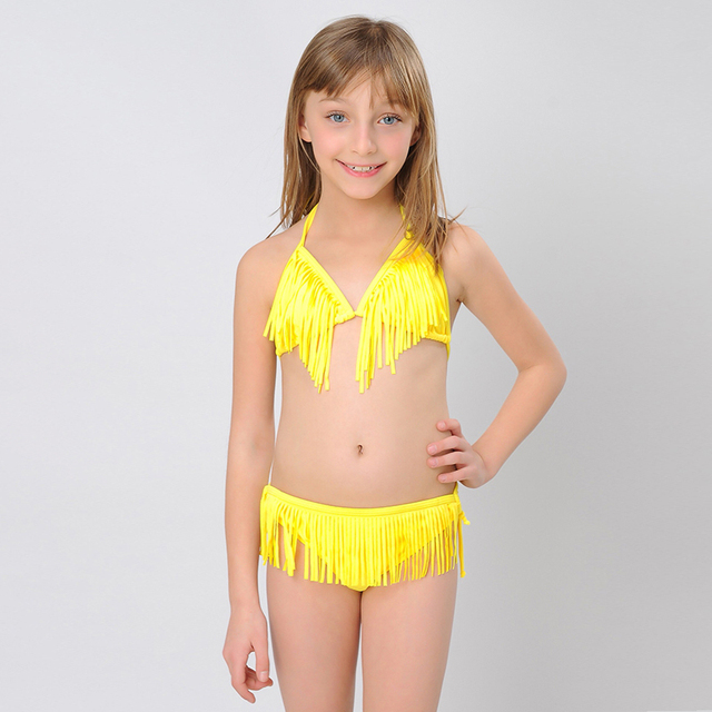 57c05f3dd4bac HIHEART 2015 Summer Bikinis Swimsuits Tassel Halter neck Baby Swimwear for  Girls Two Pieces for Juniors Girls Bathing Suits