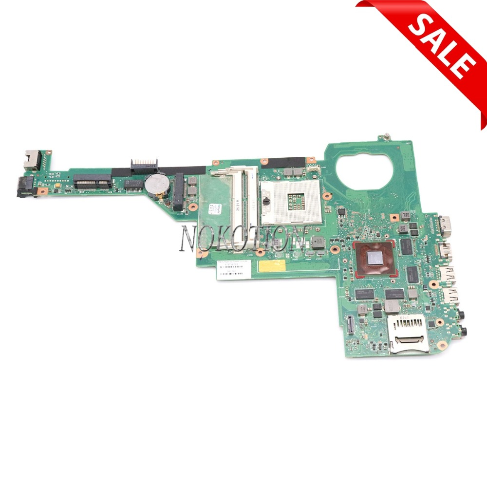 все цены на NOKOTION 676759-501 676759-001 Laptop Motherboard For HP Pavilion DV4 DV4-5000 SLJ8C HM76 Chipest GT630M Mainboard full Works онлайн