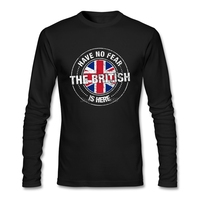 2017 Hot Have No Fear The British Is Here T Shirt Free Shipping T-shirt Men Cotton Long Sleeve Custom Britain UK T Shirts