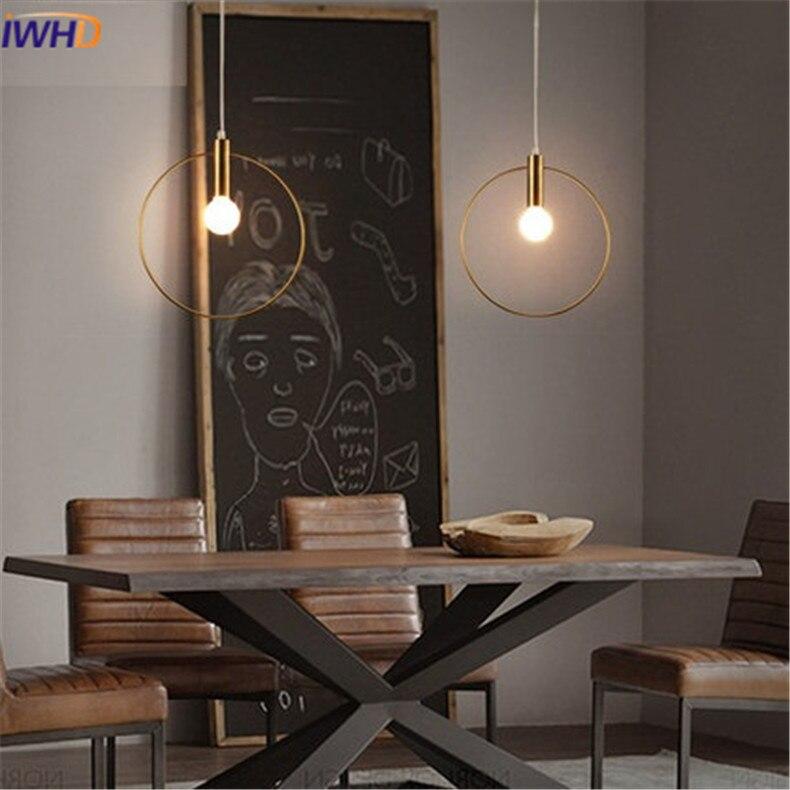 Modren LED obesek lučka Osebnost Zaokrožena železna razsvetljava - Notranja razsvetljava - Fotografija 4