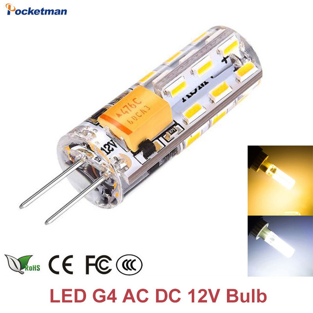 Dimmable Bulbsamp; Lamp Dc Ac 3w Bulb 35Off 3014 Smd Us1 14 2448leds Spotlight g4 G4 6w Halogen In Z35 12v Replace Chandelier Led W2YED9HI