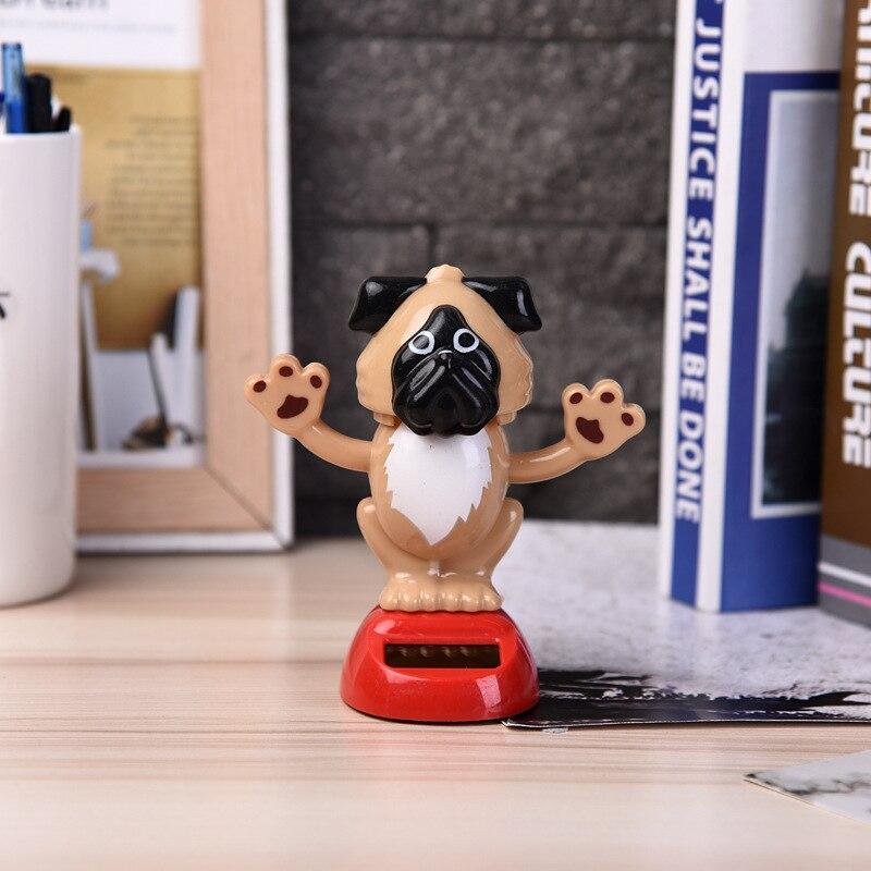 Волшебная игрушка на солнечных батареях для танцев собак, качающаяся игрушка, подарок, украшение автомобиля, новинка, счастливые танцы, солнечные игрушки для детей - Цвет: B