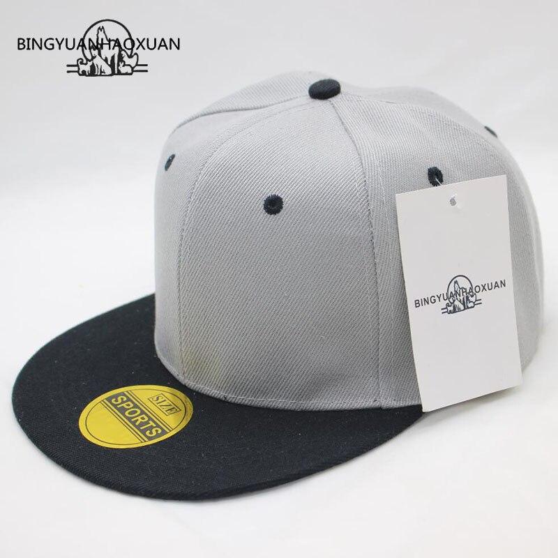 BINGYUANHAOXUANBrand Snapback Baseball Cap For Women Men Couple Hip Hop Hat Simple 11 Colors Double Layer Bone Cotton Cap Summer