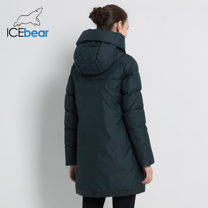 ICEbear 2019 New Women's Winter Coat Fashion Woman Jacket Female Cotton Jackets Hooded Ladies Coat Warm Brand Clothing GWD18203I