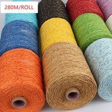 280M Raffia Straw Gold Line Yarn Crochet For DIY Knitting Summer Hat Handbags Cushions Hand