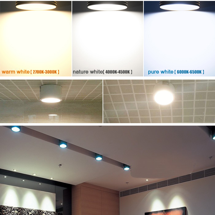 2 5 quot 3 quot 4 quot 3W 5W 7W 12W Surface Mounted Downligt Ceiling Lights Lamps LED Spot for loft house hotel clothing jewelry lights in Ceiling Lights from Lights amp Lighting