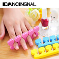 10Pcs Nail Art Soft Plastic Form Finger Toe Separator Pedicure Manicure Salon Tools Random Color Free Shipping