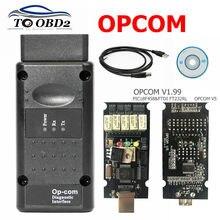 Opcom v1.99 v1.95 v1.78 v1.70 v1.65 v1.59 obd2 can-bus leitor de código para opel op com OP-COM obd2 diagnóstico pic18f458 ftdi chip