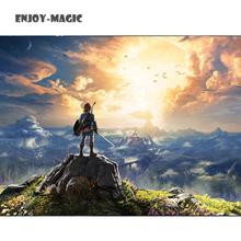 Game The Legend of Zelda Breath Wild Art Silk Fabric Poster 55X76 Cm  New Pictures for Living Room Wall Decor 6