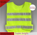 Fluorescent reflective vest  reflective work vest Safety vest Traffic  police zipper reflective vest print able