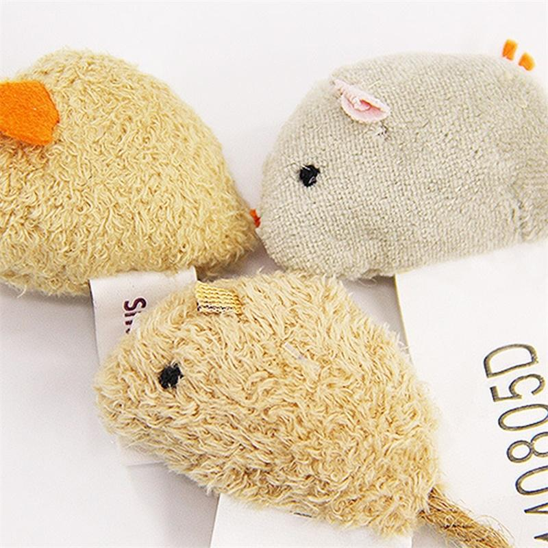 Asypets 3pcs Pet Cat Bite-resistant Toy Plush High Simulated Little Mouse Mouselet Hide And Seek Game Props-20