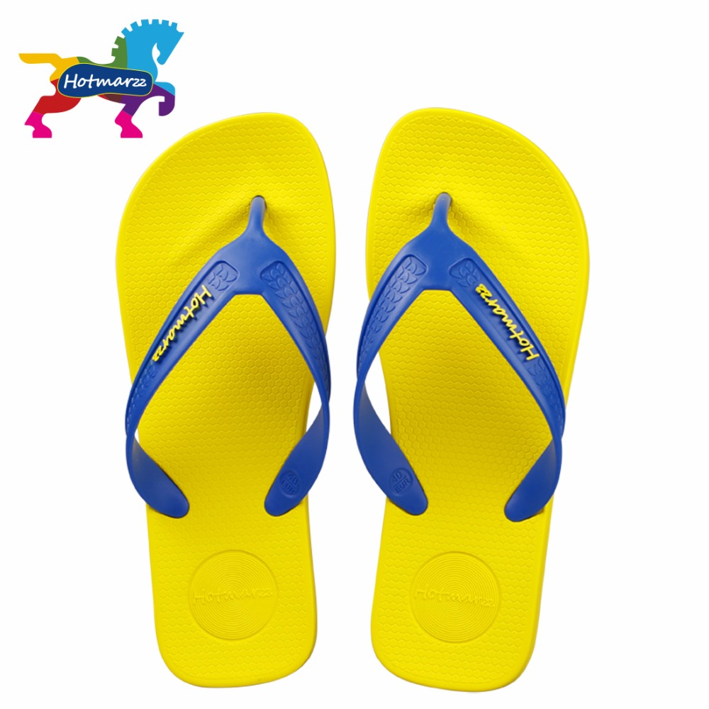 Hotmarzz Men Fashion Slippers Summer Flip Flop Casual Sandals Beach Shoes Home Shoes Male Leisure Soft Thong Sandals Shoes