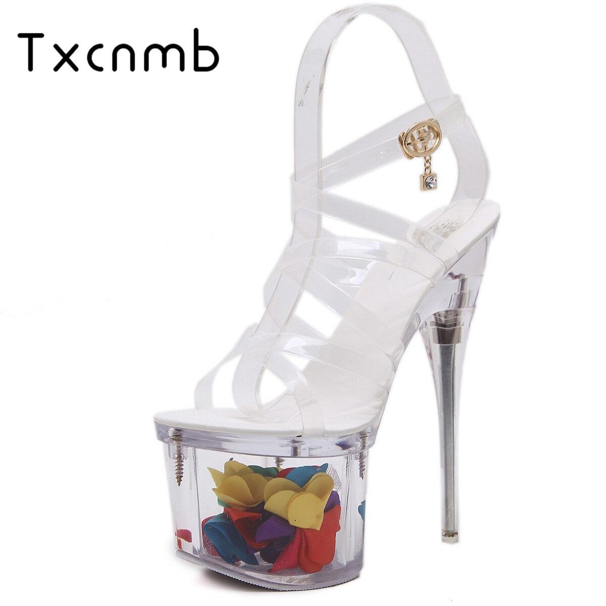 Dames Pvc forme De Sandales Bal Transparent Hauts D'été 2019 Super Talons Partie Plate Chaussures Blanc Femmes Txcnmb Nouveauté wpU1ZWqHx