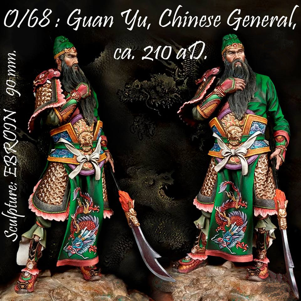 90mm Bust resin figures model kit Chinese history Shu Han General Guan Yu Unpainted and not assembled free shipping R67 15 chinese folk bronze painted seat general guan gong yu warrior god broadsword dsd66