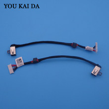 1 pçs/lote New Laptop DC Power Jack Soquete do Conector 15 Cablagem para DELL Inspiron 3558 5455 5000 5555 5575 5755 5758