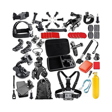 48-In-1 Sport Accessory Kit for GoPro Hero4 Session Hero1 2 3 3+ 4 SJ Yi in Swimming Rowing Skiing Diving and Other Sports