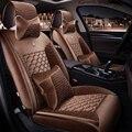 2016 Curto pelúcia almofada do assento de carro cobre universal fit car acessórios