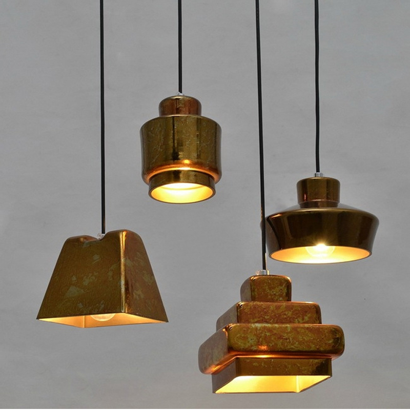 Light bulb pendant light copper glass restaurant pendant light single pendant light vintage retractable wall lamp american style pendant light living room lamps restaurant lamp american style copper brief pendant light