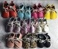 2017 Nuevo estilo de Cuero Genuino Mocasines Bebé Zapatos de leopardo Bebé oxford atan para arriba zapatos Recién Nacido primer caminante Zapatos de bebé Infantiles