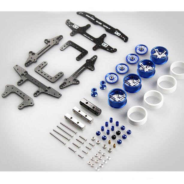 Free Shipping MS MSL Chassis Spare Parts Set Kit for DIY Tamiya Mini 4WD RC Racing Car with Dual Shaft Motor