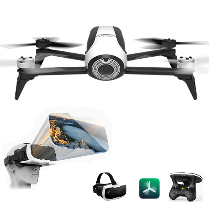 US $573 18 18% OFF|Parrot Bebop 2 FPV Quadcopter Drone Camera 1080p HD  Video Recording 60km/h 2 4Ghz APP Controller Wifi drones profesionales-in