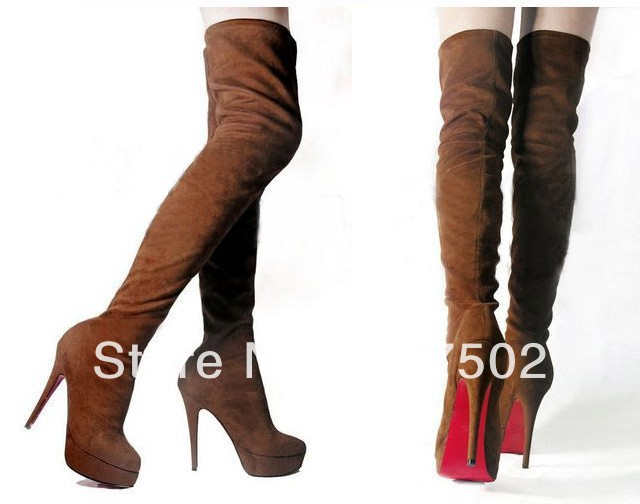 Aliexpress.com : Buy Free shipping sexy women knee high boots ...