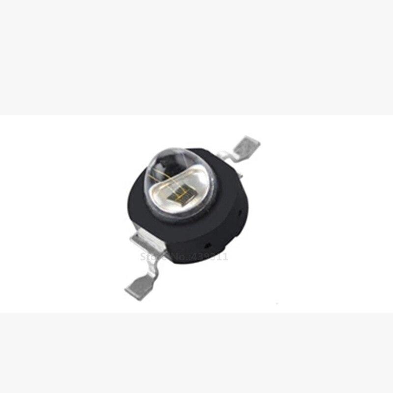 Free shipping 50PCS 3w High power LED RED IR 850nm 940nm light Lamp 42mil Chips black bracket