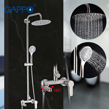 GAPPO Shower Set Bathroom Rainfall Shower Faucet Mixer Single Handle Mixer Tap With Hand Sprayer Wall Mounted Bath Mixer Shower wall mounted chrome shower faucet set single handle 3 functions 8 rainfall showerhead bath and shower mixers with handshower