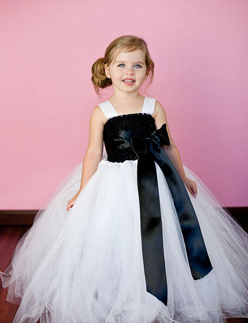 New Flower Girls Tutu Dress Kids Baby Dress Wedding Party Girls ...