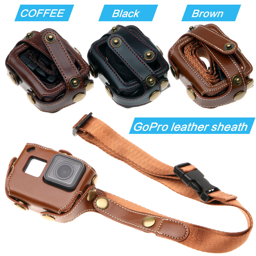Protective case for Gopro Hero 7 6 Black Edition PU Leather Bag Case Protection for Go Pro Hero 7 6 5 Action Camera Accessories