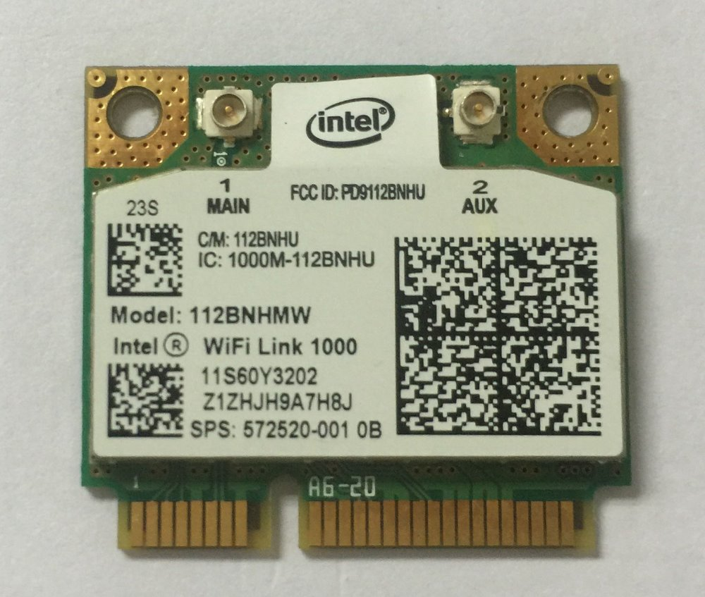 Intel 1000 112BN_HMW Semi Mini PCI-e Centrino Wireless WLAN Card Modul Wifi 802.11bgn pentru HP 572520-001 11S60Y3202