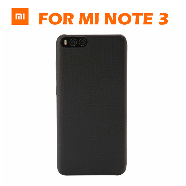 size 40 8f118 08bcc US $18.99 |Original Xiaomi MI Note 3 note3 Smartwake Flip Cover Case  Leather Protective Cover PC+PU For Xiaomi Mi note 3 Retail Box-in Flip  Cases from ...