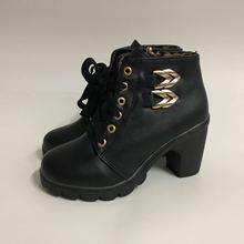 Plus Size Ankle Boots Women Platform High Heels Buckle Shoes Thick Heel Short Boot Ladies Casual Footwear Drop Shipping 2019 autumn new ankle boots for women platform high heels female lace up shoes woman buckle short boot casual ladies footwear