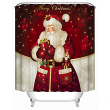 цена на Merry Christmas Santa Claus gives gifts waterproof Bathroom Shower curtain